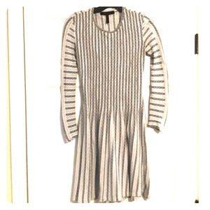 BCBG MAXAZRIA Navy/Cream dress